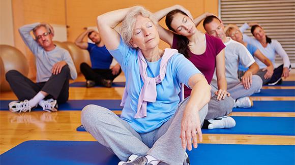 Foto Yoga ginnastica dolce